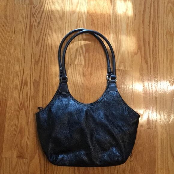 2d2b2d7a2ae Nine West Black Pebbled Black Bag